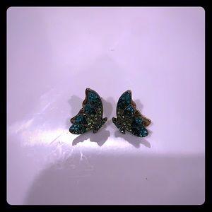 Betsey Johnson Butterfly Earrings